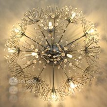 Lamp fashion brief american lamp led dancingly crystal ceiling light