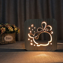 Animal Cartoon LED Night Light USB Plug Warm Light Desk Lamp Kid Room Night Lamp Living room Table Atmosphere Lamp Night Deco icoco usb charging led hourglass night light time record atmosphere sandglass desk lamp gift 2018 new version