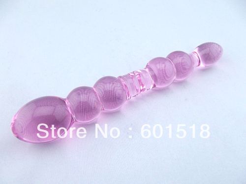 2017 The pink high quality Adult Sex toy glass dildo for female GFG-S2215