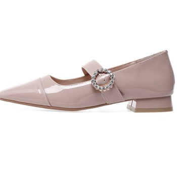 Black Mary Jane Flats | ZVQ/брендовые свадебные женские туфли на плоской подошве из натуральной кожи с кристаллами; сезон весна; Цвет черный, красный; модные туфли Mary...