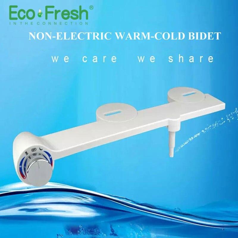Ecofresh Hot Cold Water Non Electric simple Toilet Seat Bidet Washlet Sprayer Nozzle Toilet Seat Gynecological