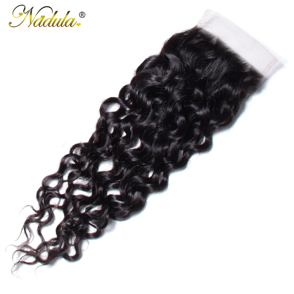 Nadula Hair  Water Wave Closure 8-10inch  Closure 4*4 Swiss Lace Closure Natural Color 4