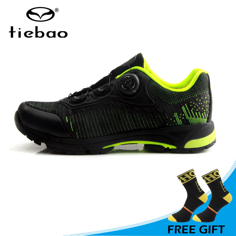 Tiebao Brand Leisure Cycling Shoes Mountain Bike Bicycle Self-locking Shoes Non-slip Breathable Bike Sneakers MTB Zapato