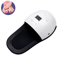 Detachable 48W UV LED Lamp Nail Dryer for Hand Foot Gel Polish Curing Drying Fingernail Toenail Manicure Art Tool LCD Display