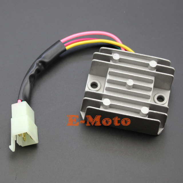 us $6 92 13% off new gray voltage regulator rectifier 4 wire 4 pins for honda 125 150 200 250cc motorcycle atv in motorbike ingition from automobiles Honda Rebel Wiring Diagram
