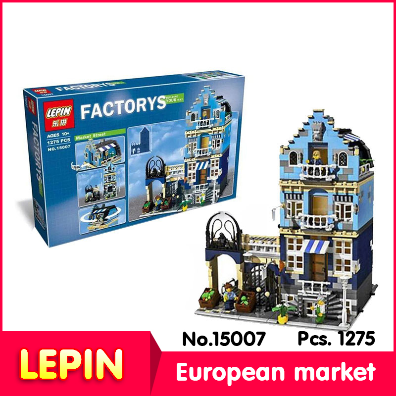 LEPIN 15007 1275Pcs with original box street View series European Market Model Building Block Set Bricks Compatible 10190 gift lepin 22001 pirate ship imperial warships model building block briks toys gift 1717pcs compatible legoed 10210