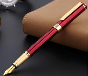 Image 3 - Picasso 902 Vulpen Pimio Picasso noble rode strepen 0.5mm penpunt Pennen Gold Clip Luxe Schrijven Levert 13.6*1.3 cm