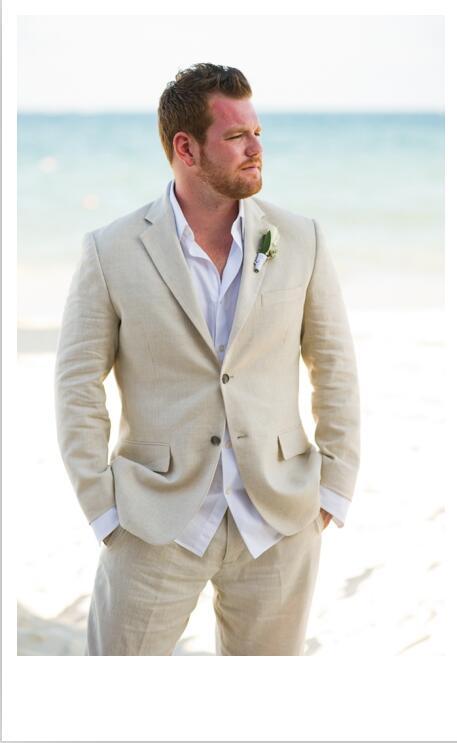 Latest Coat Pant Designs Champagne Linen Wedding Suits for Men ...