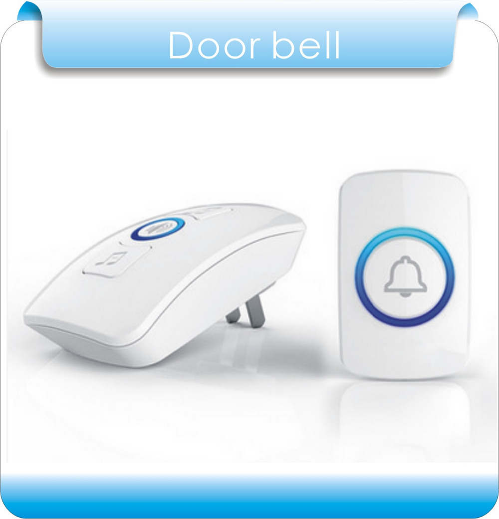 Plug-in Wireless Door Bell Waterproof Push Button Doorbell for Home with 36 Chimes 1 Outdoor Transmitter + 1 Indoor Receiver wireless service call bell system popular in restaurant ce passed 433 92mhz full equipment watch pager 1 watch 7 call button