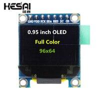 0,95 дюймовый полный цветной oled-дисплей модуль с 96x64 разрешением SPI параллельный интерфейс SSD1331 контроллер 7PIN