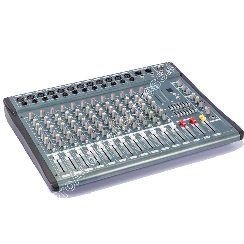 MICWL YU3512 New USB 12 Channel stage audio DJ Karaoke Mixer Mixing console mesa dj Preamplifie promotion 150w 6 channels mixing console karaoke digital mic line audio power mixer effective mixing console for dj stage