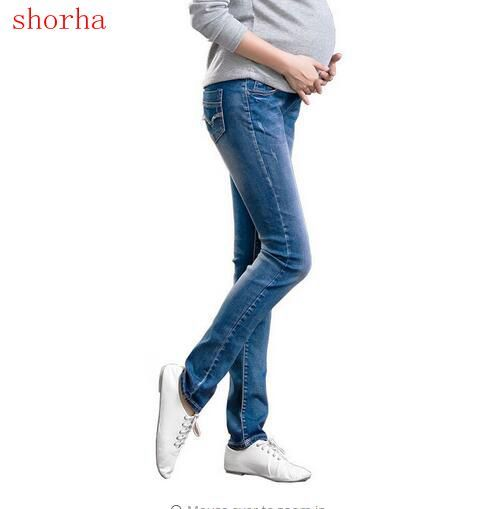 2bae185a7a6e0 Maternity Jeans Maternity Pants for Pregnant Women Skinny Pregnancy Pants  Denim Pregnant Clothing for Summer Plus