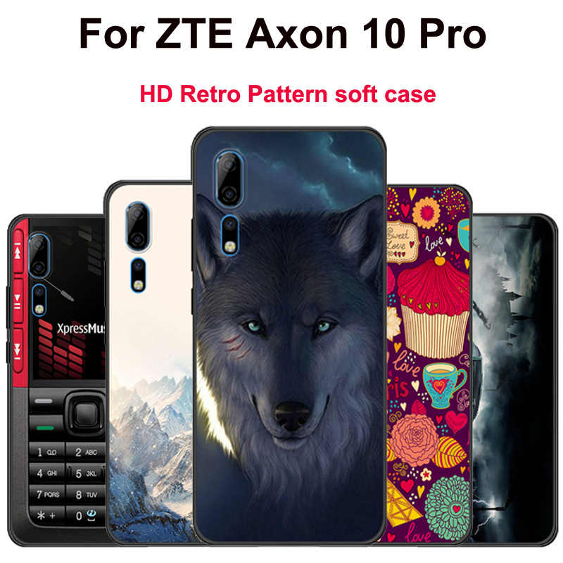 For ZTE Axon 10 Pro Case cartoon Silicone Colorful Printing Phone case For ZTE A2020 Pro funda Protector Cover A2020Pro shell