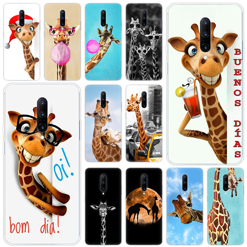 Hot Cute animal giraffe Soft Silicone Fashion Transparent Case For font b OnePlus b font font