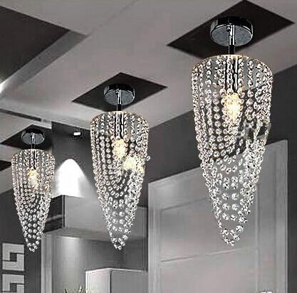 LED 1-light Chrome K9 Modern crystal chandelier lighting D17*H45cm AC110V-256V Transparent colorLED 1-light Chrome K9 Modern crystal chandelier lighting D17*H45cm AC110V-256V Transparent color