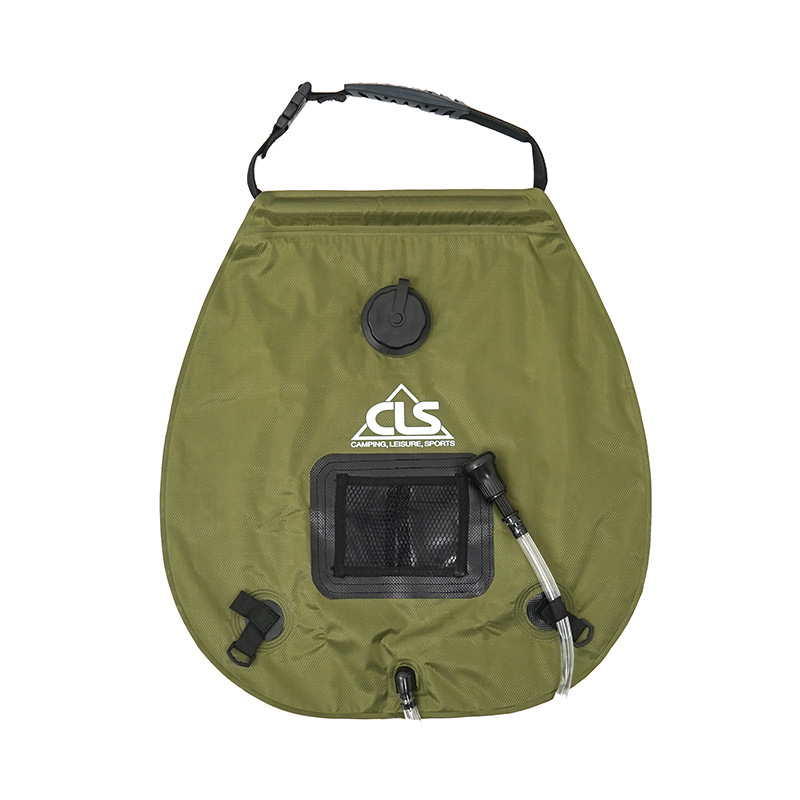 Summer 20L Outdoor Camping Hiking Self Driving Tour Solar Heating With Thermometer Folding Shower High-quality Bag Hot Water