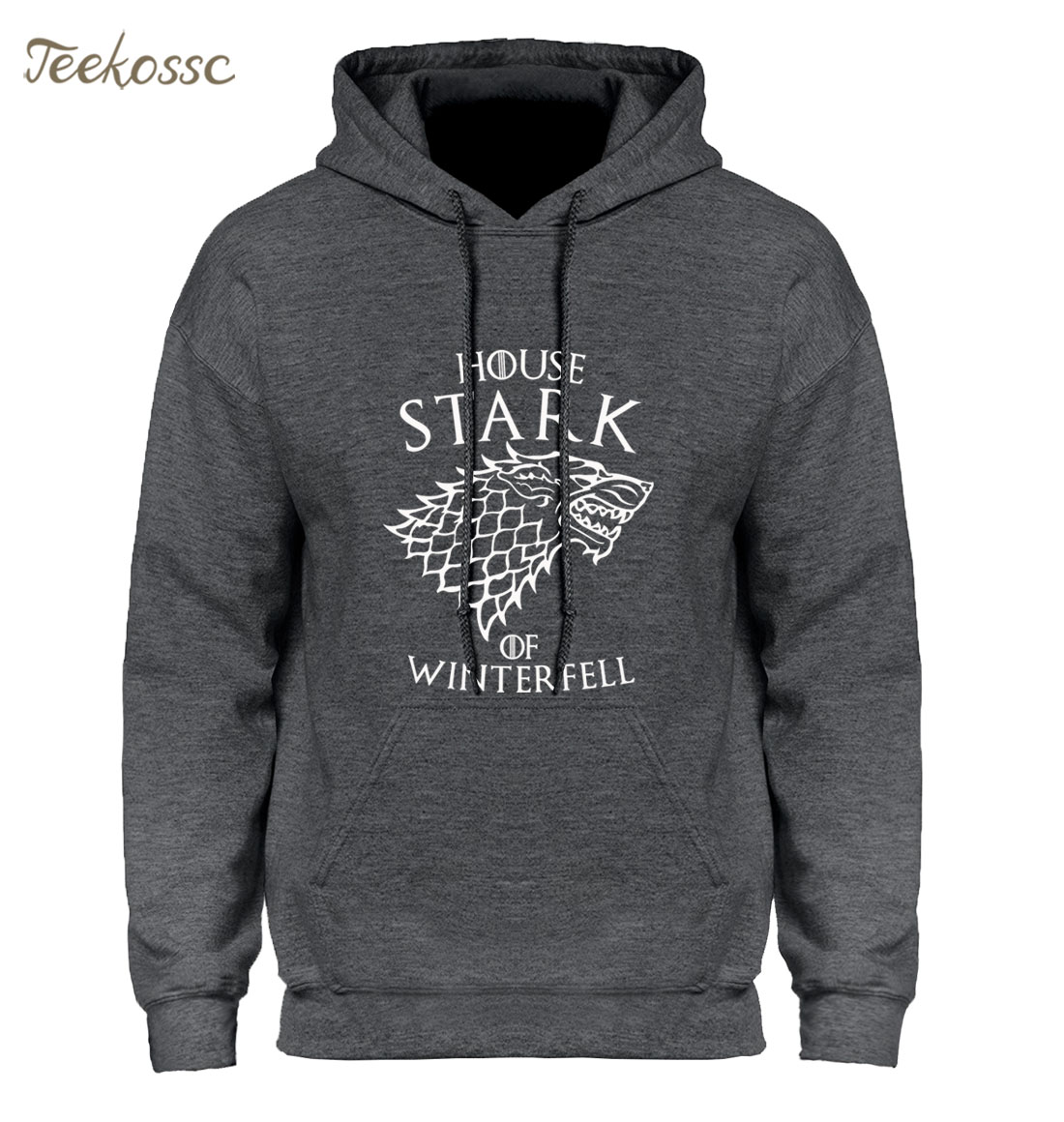 "Game of Thrones Hoodie Men ""House Stark of Winterfell"" Graphic Design Hoodies Mens 2018 Winter Brand Hip Hop Hooded Sweatshirt"