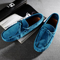 Trendy US 6-10 Cow Suede Leather Tie Mens Slip On Driving Loafer Car Shoes Casual Bussiness Boat Shoes