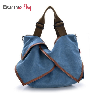 6aa0fa78f431 Casual canvas shopping bag woman patchwork hobo shoulder messenger bags  extra large tote bag for ladies retro vintage handbag. 1 order. Anniversary  Sale ...