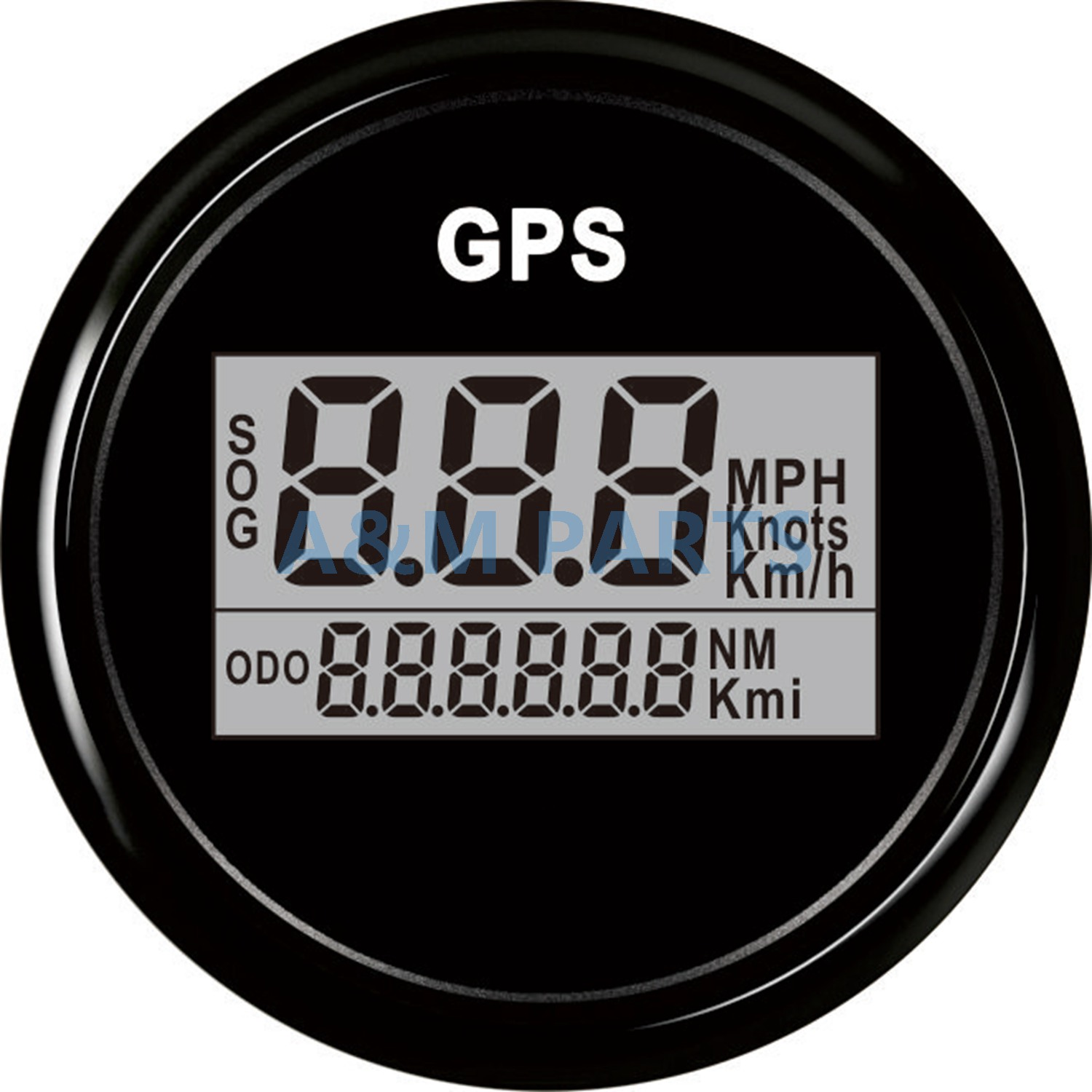 Boat Digital GPS Speedometer Marine Odometer Truck RV Car Speed Gauge GPS Antenna LCD 9-32V 52mm 52 mm universal digital gps speedometer odometer fit car boat gps speed sensor with backlight 316 l 9 32v km h adjustable