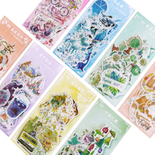 60pcs/pack Time Shallow Series Decorative Stickers Scrapbooking DIY Diary Album Stick Lable