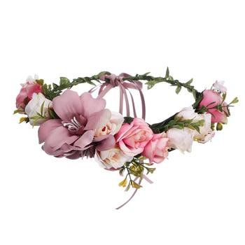 Crown Wedding Bride Wreath Of Flowers Head Band Women Hair Accessories 3