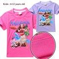 2017 New Moana tshirt girl boy unisex top T shirt sweatshirt kids summer clothes costume Retail