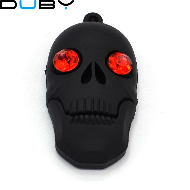 Hot Cool Skull Skeleton Headshot Grim Reaper The Death Ghost USB Flash Drive Real 4GB 8GB 16GB 32GB Zombies Memory Stick U Disk