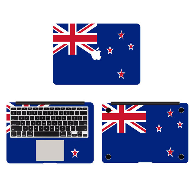 Blue flag of new zealand full body decal laptop stickers for apple macbook air pro retina