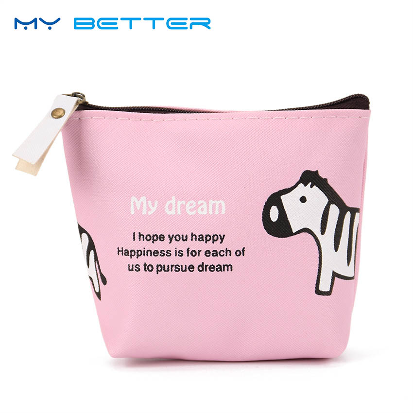 Mini Cartoon Animals Coin Purses Cute Wallet Small Zipper Money Bag Portable High Capaci ...