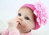 55 см 22 Дюймов Младенцы Кукла реборн Милая коллекция силиконовые реалистичные куклы для маленьких девочек Рождественский подарок
