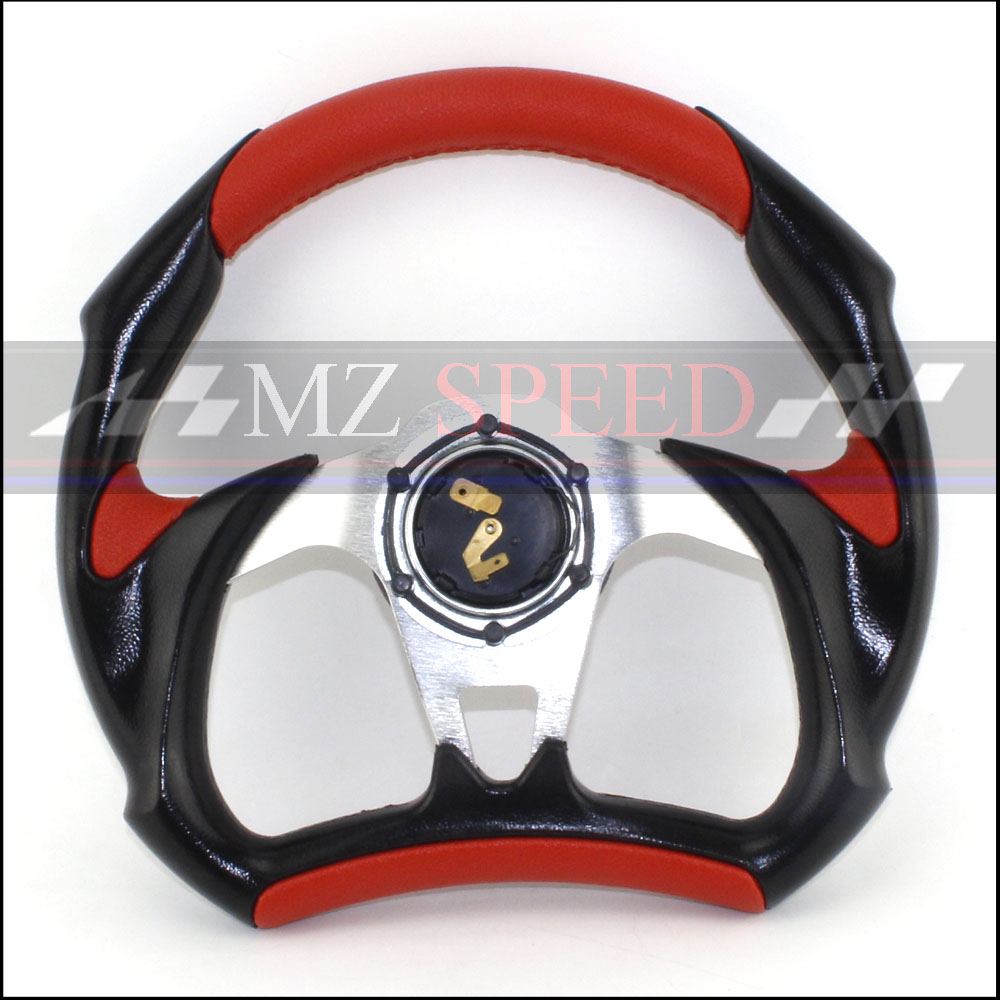 car 13 inches 320MM Aluminum PVC Silver yellow red blueSport steering wheel racing type High quality universal in Steering Wheels Steering Wheel Hubs from Automobiles Motorcycles