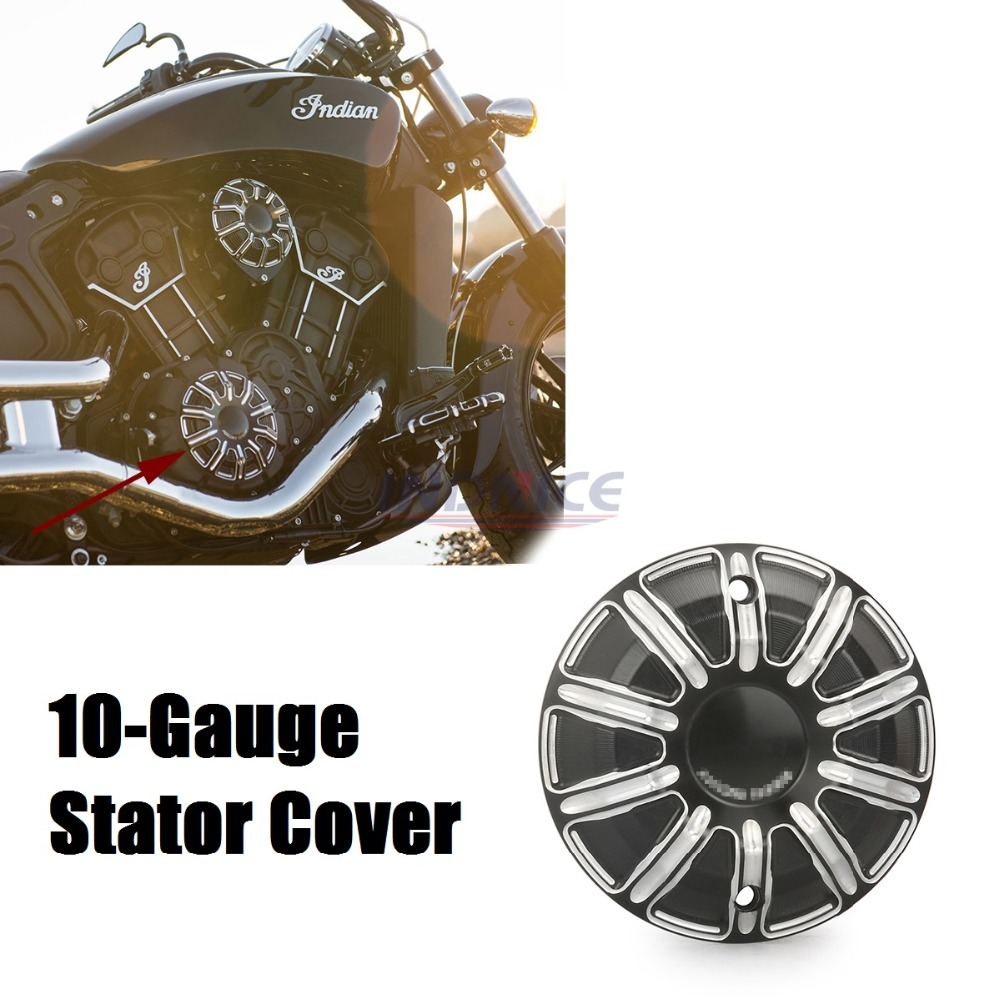 10-Gauge Primary Cover for Indian Scout Primary Cover scout indian motorcycle - RH Black 9ts5 g primary