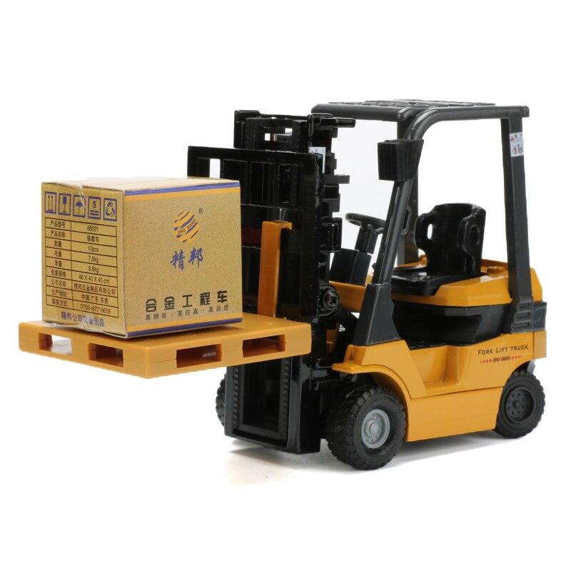 JINGBANG Forklift Truck Toy 1:60 Fork Lift Trucks Alloy Crane Models Simulation Car Model Kids Toys Boys Cars Gift