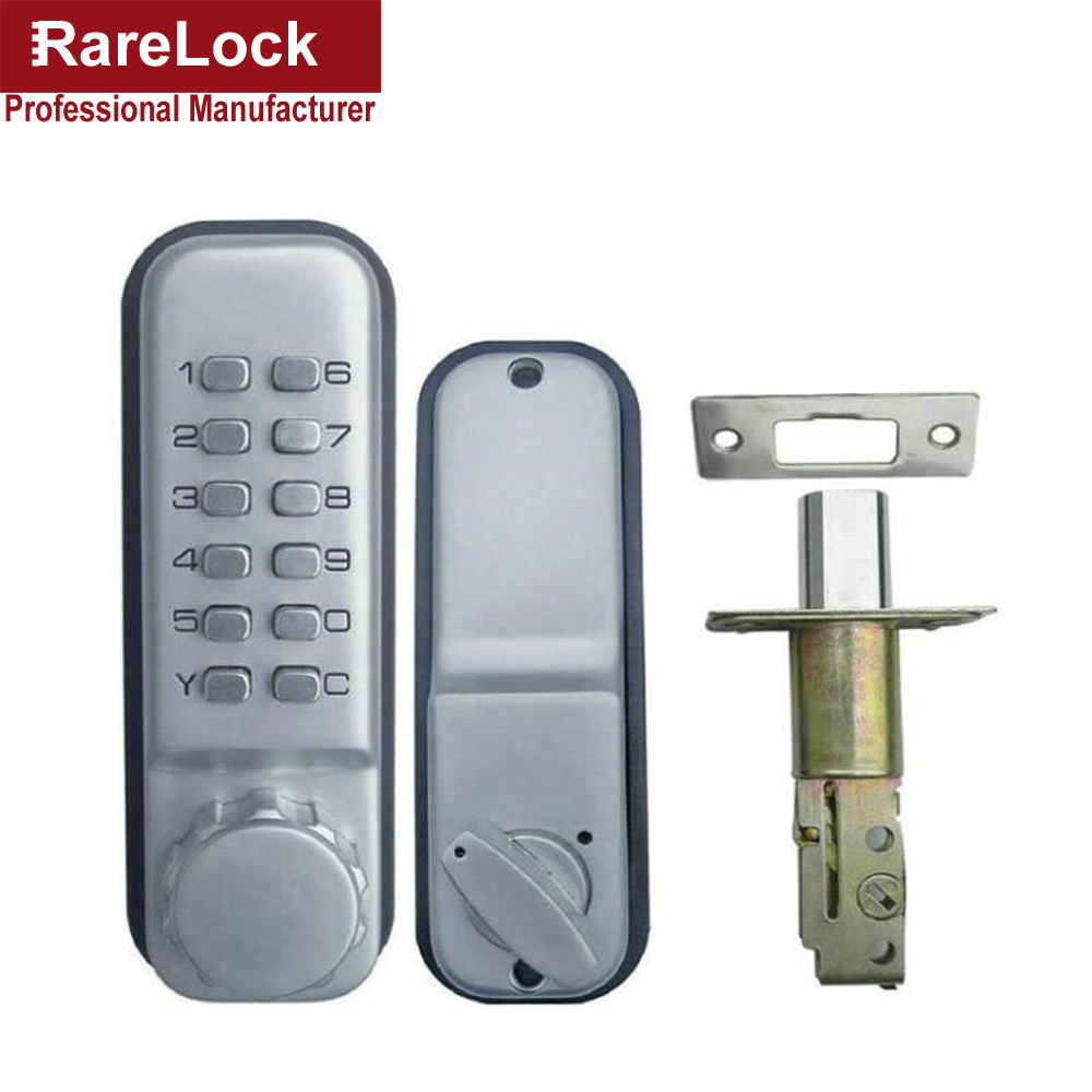 Rarelock Christmas Supplies Combination Door Lock Digital Password Code Push Button Stain Mechanical Keyless Deadbolt Locks