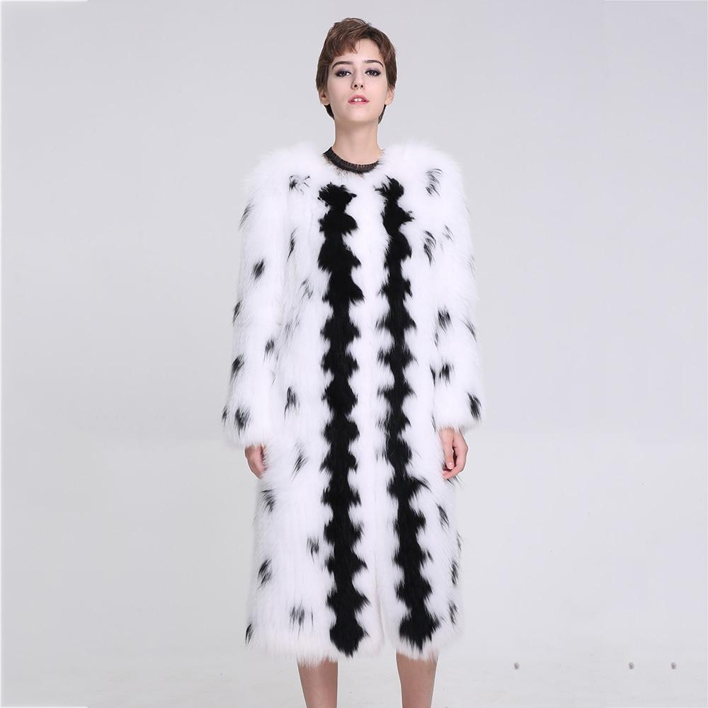 Vraie Cou Mode Renard Fourrure Long O Dames D'hiver Chaud Naturel Vestes Véritable Outwear Beige De Manteaux Femmes Manteau wX68t8