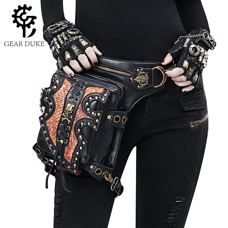 Gear Duke Vintage Steampunk Bag Retro Rock Gothic Retro bag Goth Shoulder Waist Bags Packs Victorian