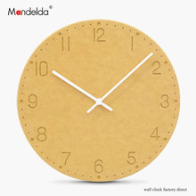Mandelda Attractive Design Home Decor Clock Modern Decorative Wall for Living Room Waterproof Silent Commercial Watch