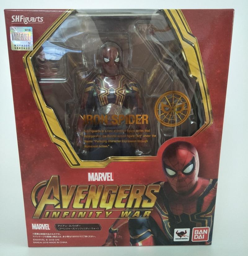 WSTXBD D'origine BANDAI S. H. Figuarts Avengers 3 SHF Fer Araignée Infinity War Action Figure Brinquedos Poupées Jouets Figurals