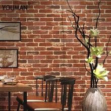 Ziegel tapete 3d Lieferanten Hohe Qualität 3d ziegel tapete stein wand papier faux ziegel tapete 3d Wohnzimmer Sofa tapete