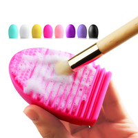 Colorful Silicone Brush Egg for Cleaning Makeup Brushes Finger Glove Make Up Brush Cleaner Cosmetic Make-Up Brush Cleaning Tools