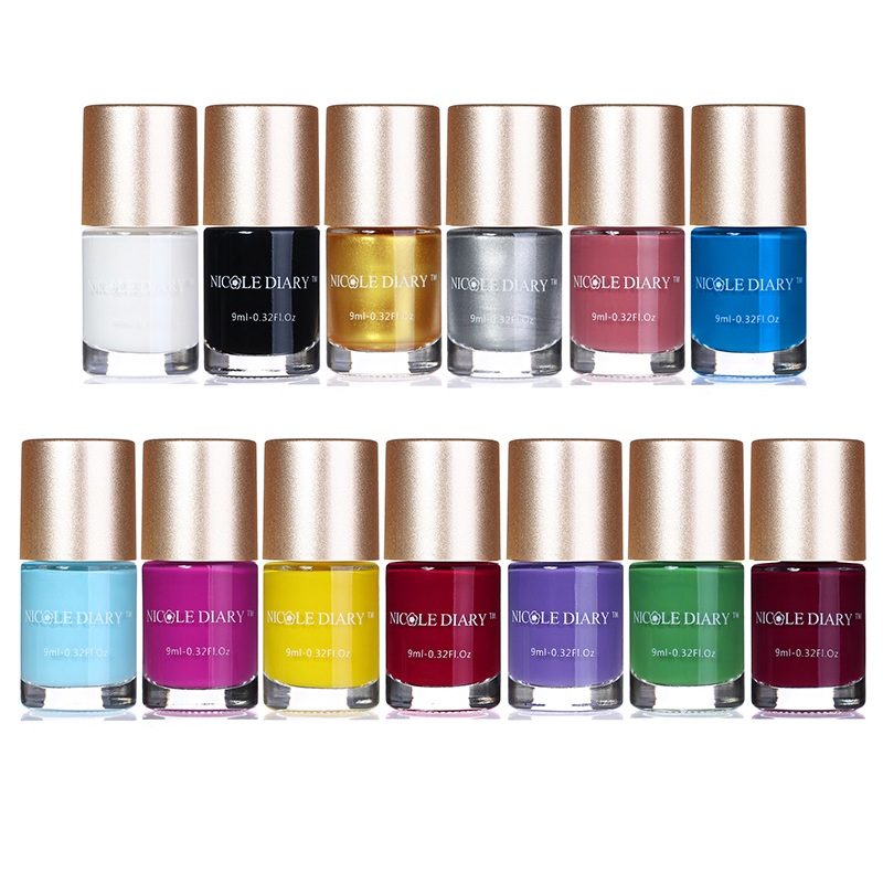 NICOLE DIARY 13 Bottles Sweet Color Nail Art Stamping Polish ...