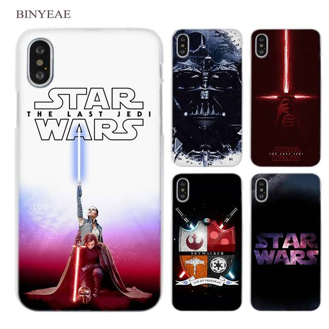 BINYEAE Star Wars Clear Cell Phone Case Cover for Apple iPhone X 6 6s 7 8 Plus 4 4s 5 5s SE 5c