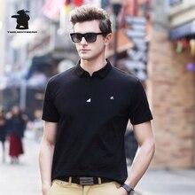 2017 Summer men's Short Sleeve Polo Shirt New Fashion High Quality Plus Size Business Casual Polo Shirt Men M~3XL C15E17100