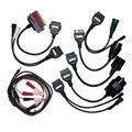Адаптер Кабели Для Cdp профессиональное OBD2 OBDII Автомобилей Диагностический Интерфейс инструмент Полный комплект 8 Автомобилей Кабели Для Autocom CDP Delphi DS150E
