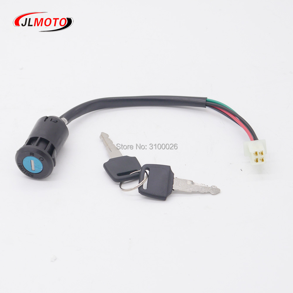 3 Wire Ignition Switch Key for 50cc 125cc 250cc Go Kart Dune Buggy Buggies ATV /& Dirt Bike Electrical Scooters DIY