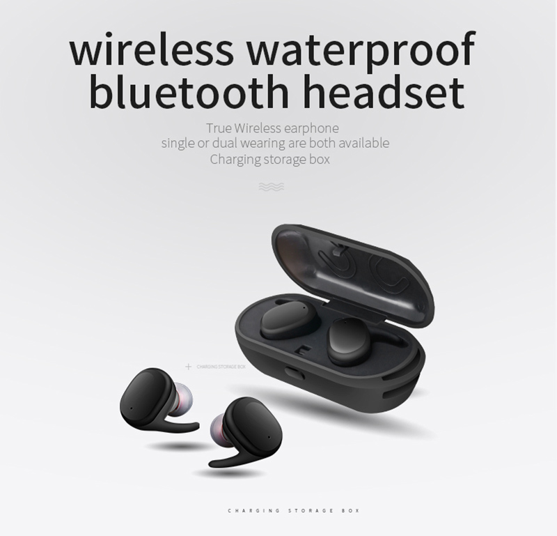 S9100 Bluetooth 4.1 True Wireless Stereo earphones handsfree earbud Waterproof headset with MIC charging box for microtphones 2017 scomas i7 mini bluetooth earbud wireless invisible headphones headset with mic stereo bluetooth earphone for iphone android