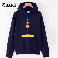 Solar System Gallery Mercury Venus Earth Mars Jupiter Saturn Uranus Neptune boys man male autumn winter fleece hoodies()