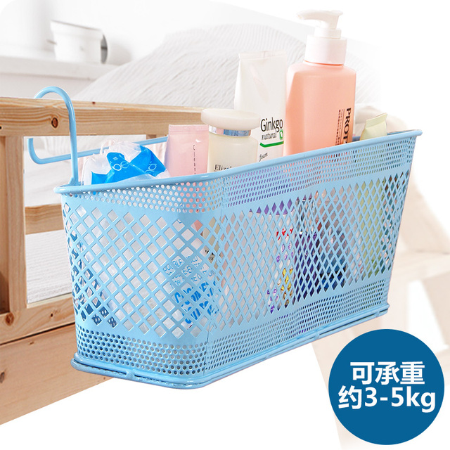 storage baskets for dormitory organize book food metal wicker laundry basket hang in bed storage 335