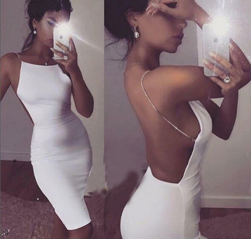 2017  new   girl dress  wholesale  black white blush pink back open    bandage dress   eveing  party Dresses Dress + suit girl